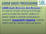 lidar data processing