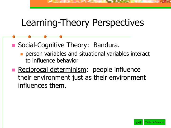 Learning-Theory Perspectives