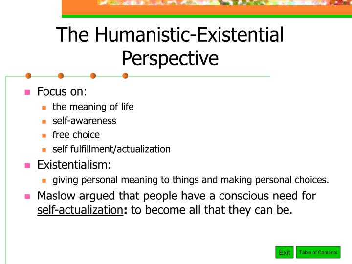 The Humanistic-Existential Perspective