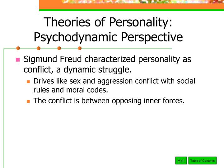 Theories of personality psychodynamic perspective