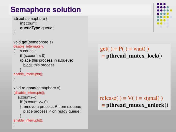 Semaphore solution