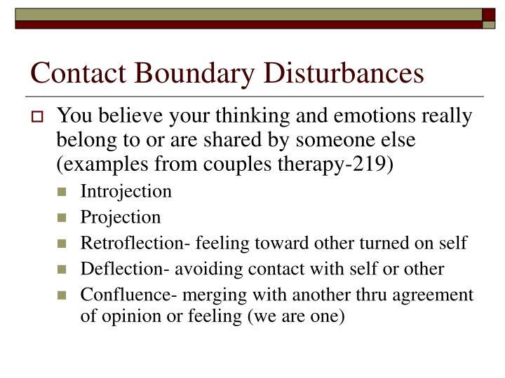 Contact Boundary Disturbances
