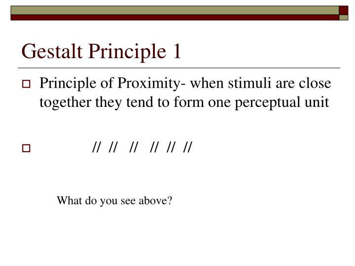 Gestalt principle 1