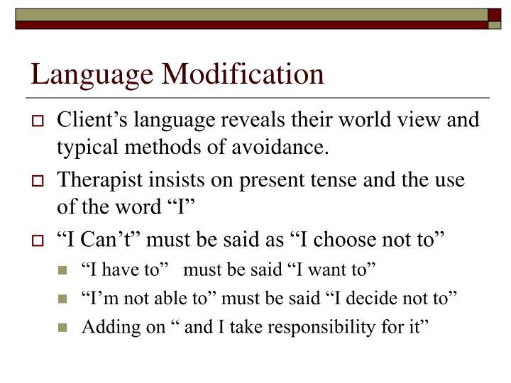 Language Modification