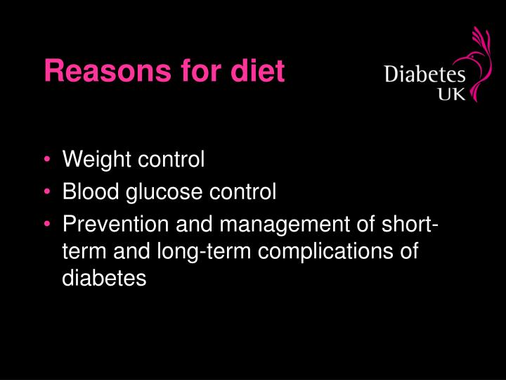 Reasons for diet