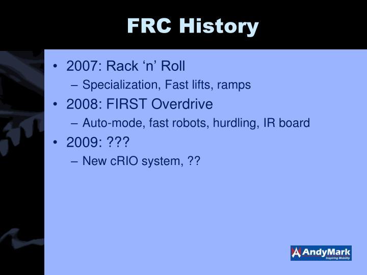 FRC History