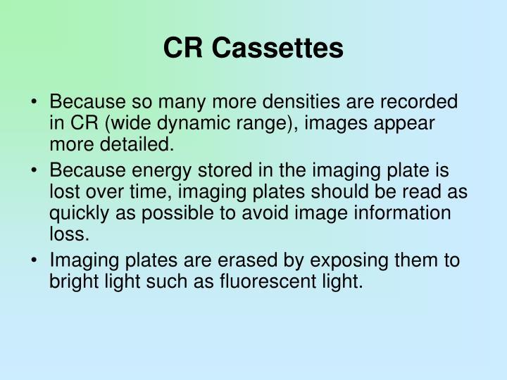 CR Cassettes