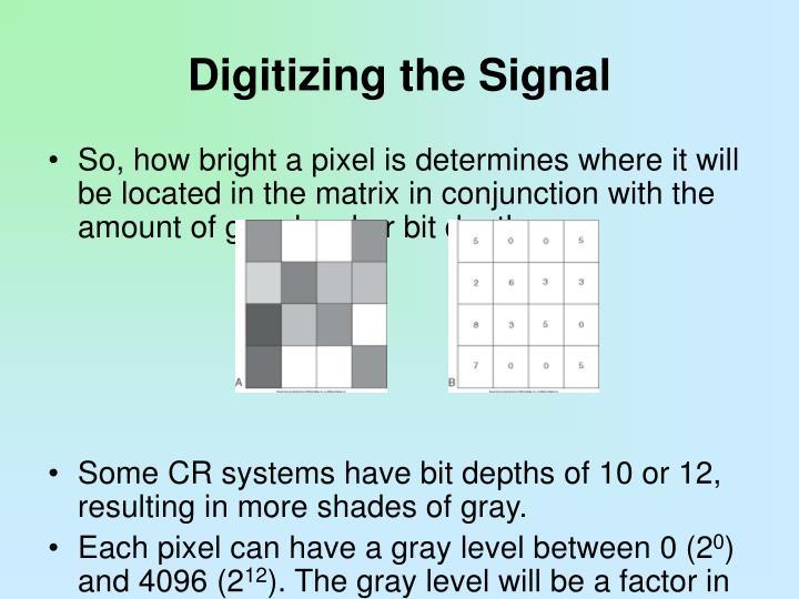 Digitizing the Signal