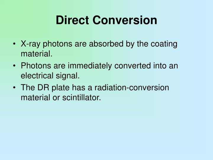 Direct Conversion