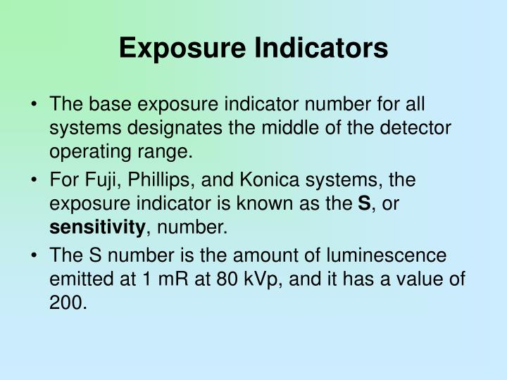 Exposure Indicators