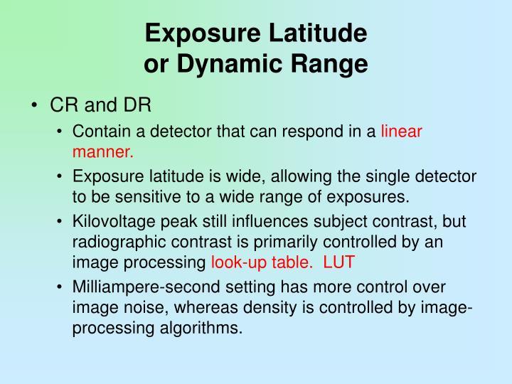 Exposure Latitude