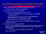 trap 10 monitoring of contribution amounts
