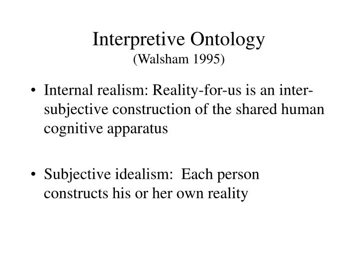 Interpretive Ontology