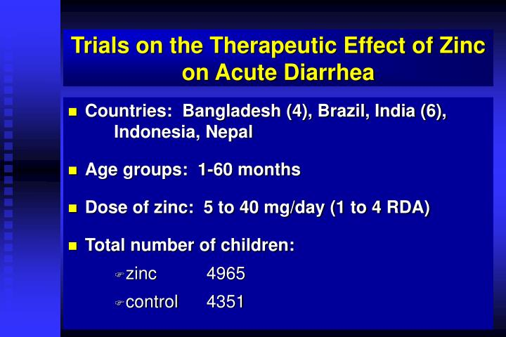 Trials on the Therapeutic Effect of Zinc