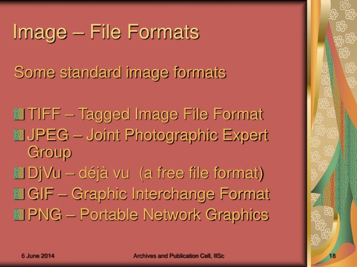 Image – File Formats