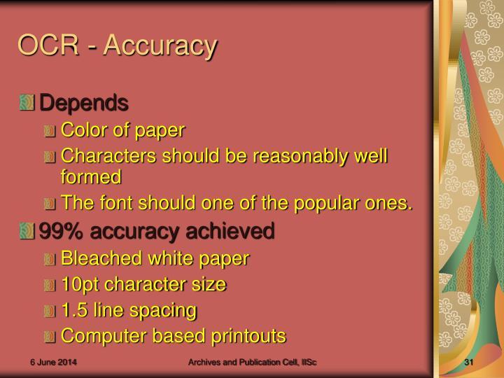 OCR - Accuracy