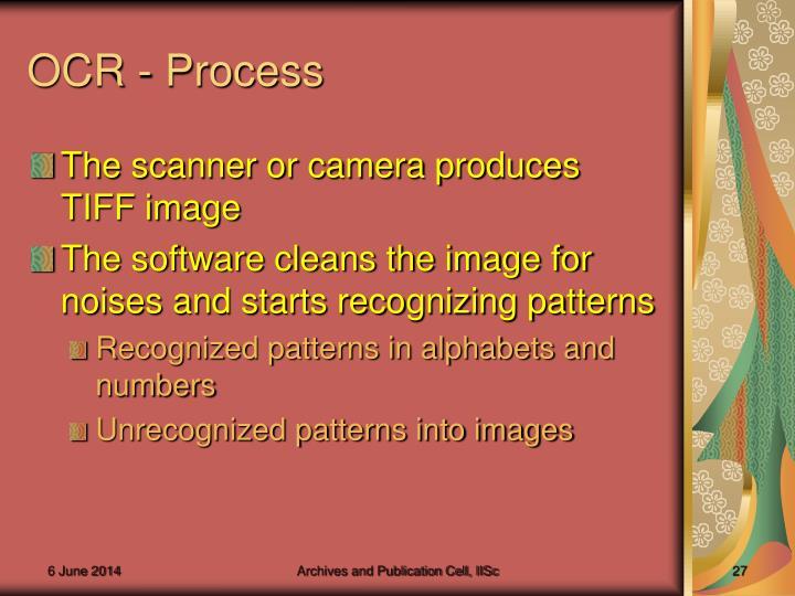 OCR - Process