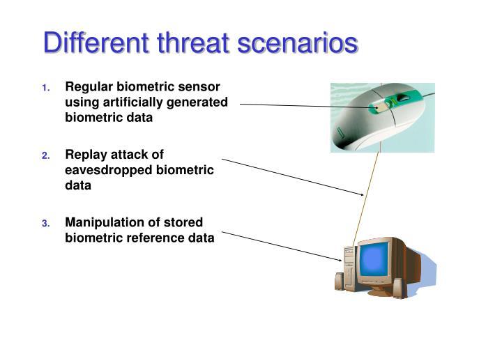 Different threat scenarios