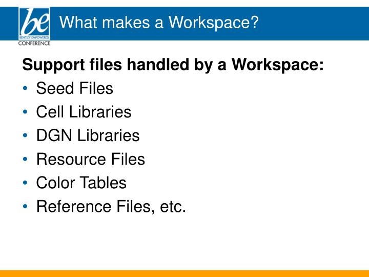 What makes a workspace