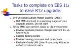 tasks to complete on ebs 11 i to ease r12 upgrade10