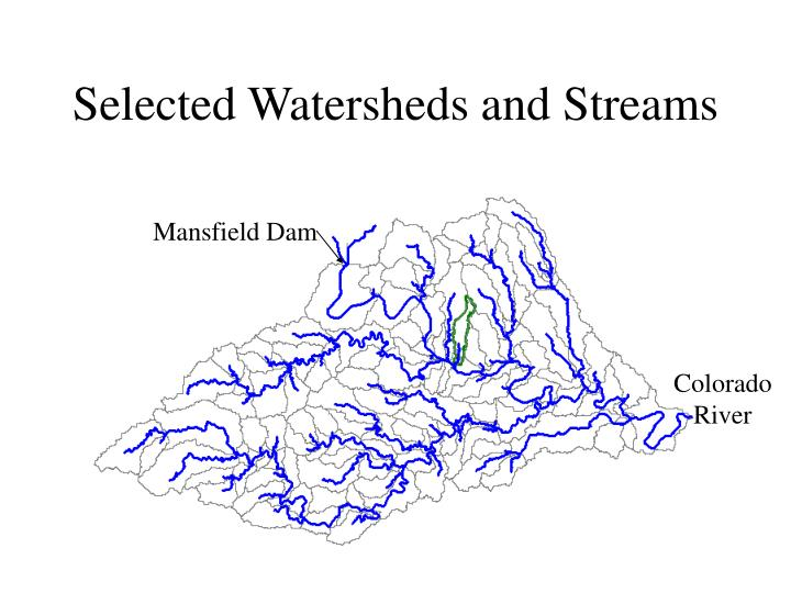 Selected Watersheds and Streams
