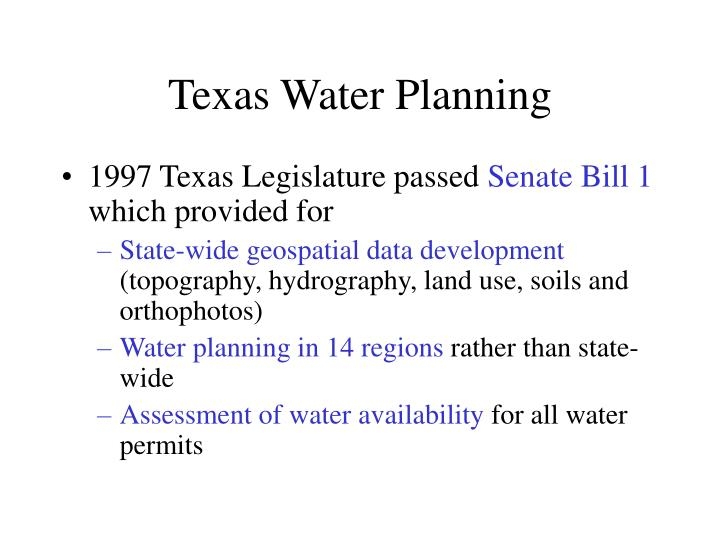 Texas Water Planning