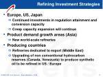refining investment strategies