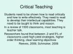 critical teaching