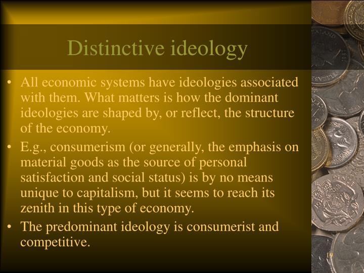 Distinctive ideology