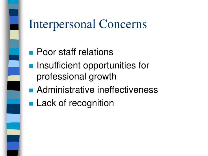 Interpersonal Concerns