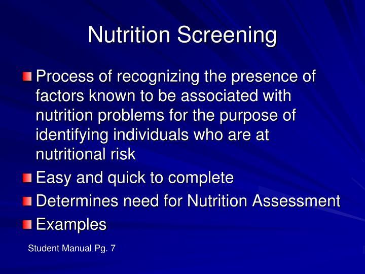 Nutrition Screening