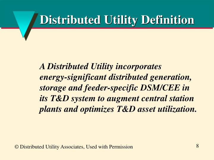 Distributed Utility Definition