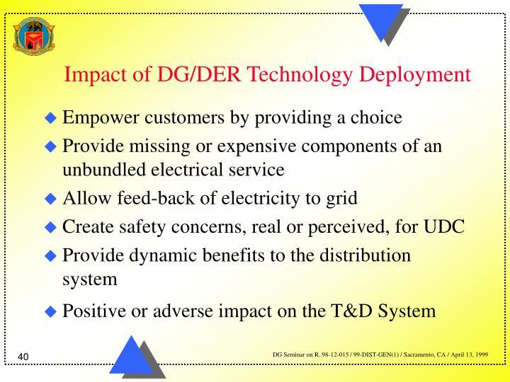 Impact of DG/DER Technology Deployment