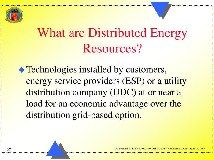 What are Distributed Energy Resources?