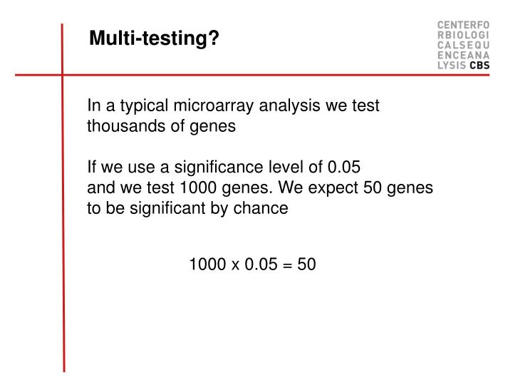 Multi-testing?