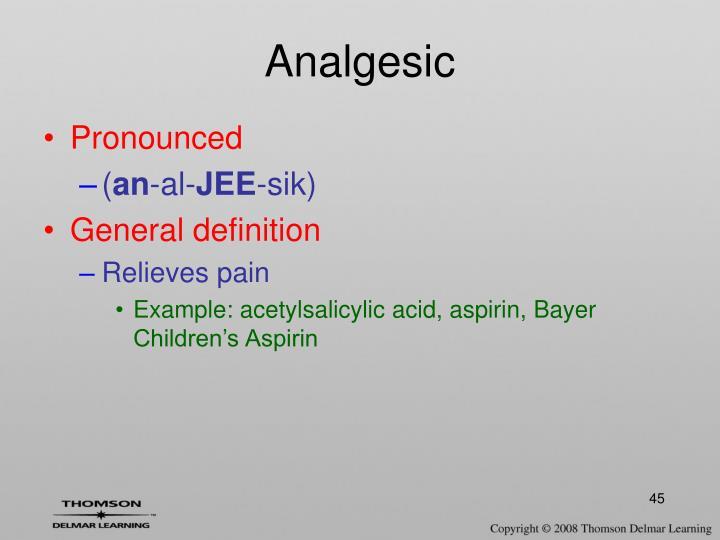 Analgesic