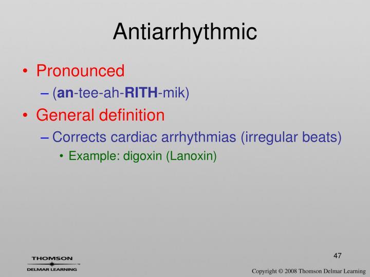 Antiarrhythmic