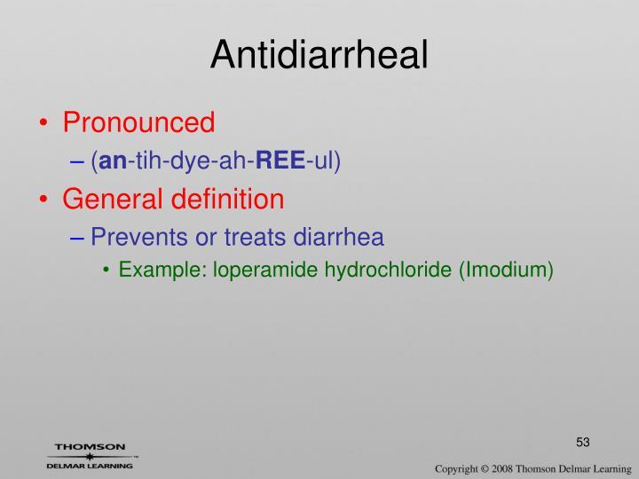 Antidiarrheal