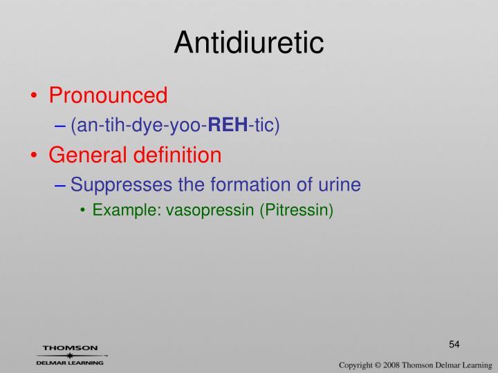 Antidiuretic