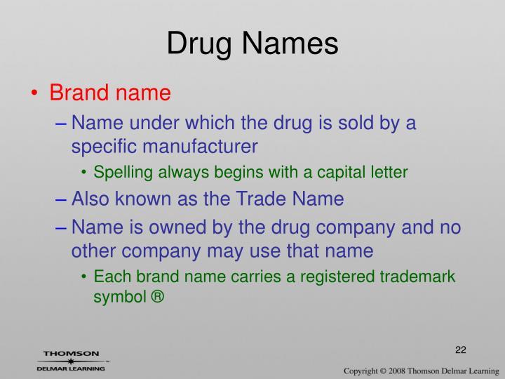 Drug Names