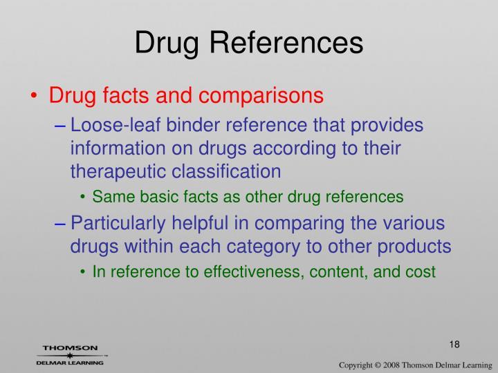 Drug References