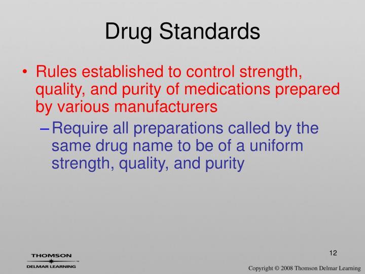 Drug Standards