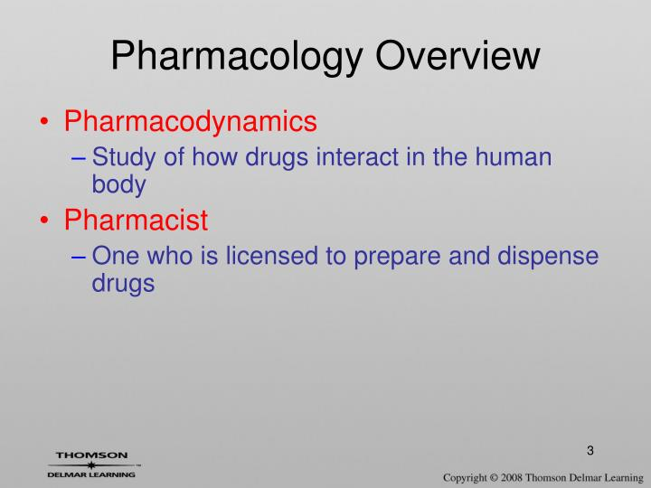 Pharmacology overview1