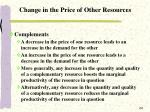 change in the price of other resources1