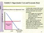 exhibit 3 opportunity cost and economic rent1