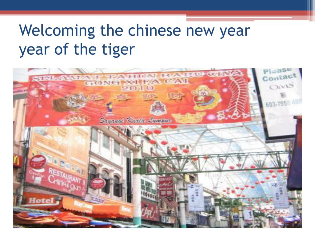 Welcoming the chinese new year