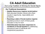 ca adult education our long tradition of striving for social equity