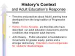 history s context and adult education s response