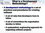what is a development methodology