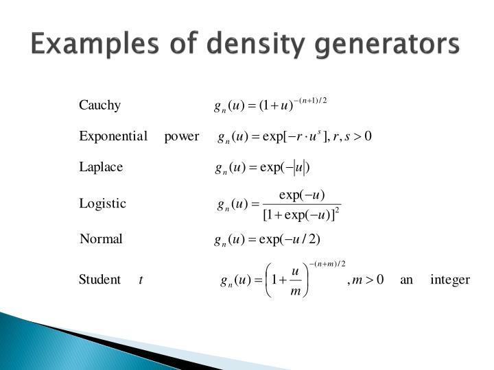Ppt Elliptical Distributions Powerpoint Presentation Id1283736
